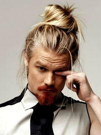 Long Hair Blonde Man Bun
