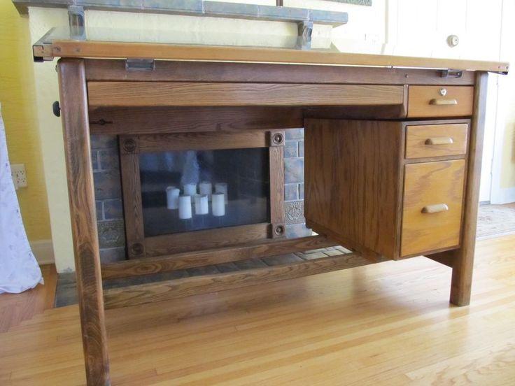 Vintage Drafting Table 4 Post Hamilton Drafting Table #Traditional #Hamilton