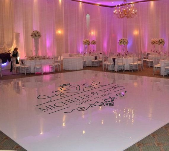 Wedding Dance Floor Decal, Wedding Floor Monogram, Vinyl Floor Decals, Wedding Decor -