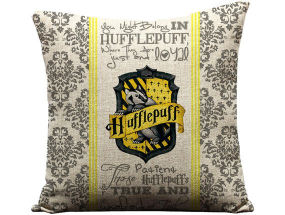 Harry Potter Hufflepuff Pillow, Hogwarts Hufflepuff House Pillow Case, New Harry Potter Throw Pillow Case, Hufflepuff Sofa Cushion Cover