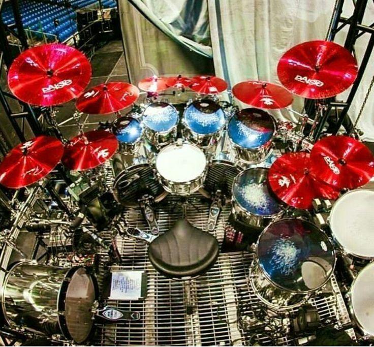 Sharp looking drum set.                                                                                                                                                                                 More