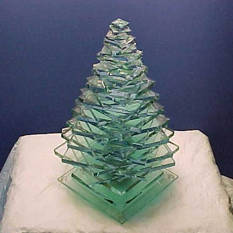 christmas tree lamps - Glass Christmas Trees