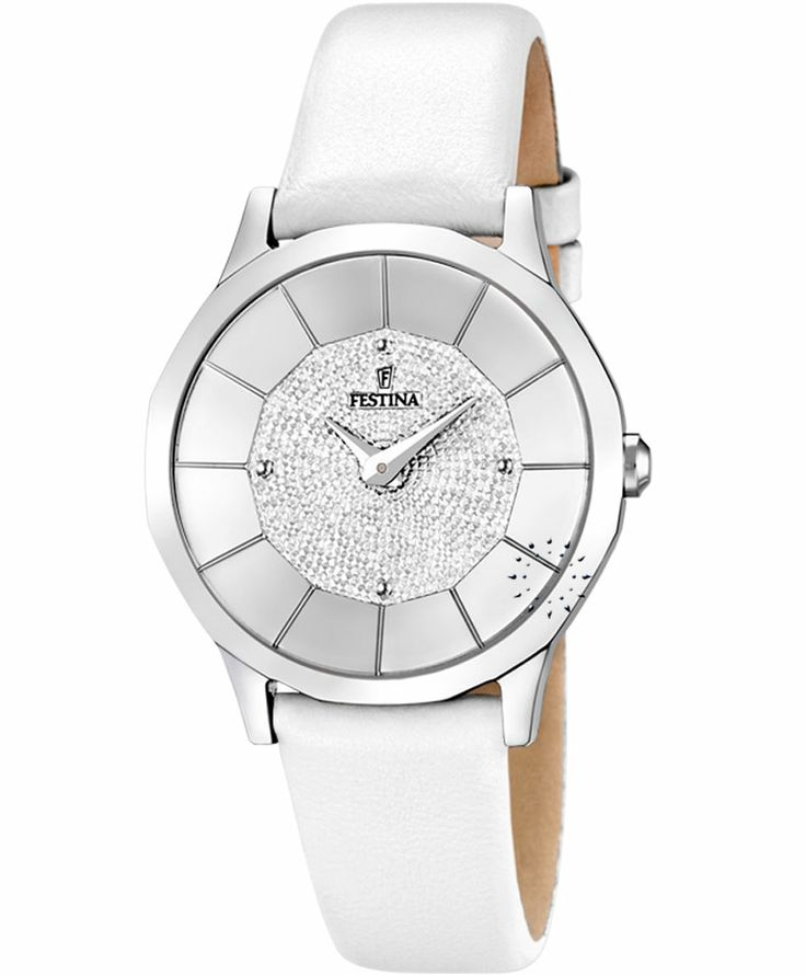FESTINA Ladies White Leather Strap Τιμή: 88€  http://www.oroloi.gr/product_info.php?products_id=36710