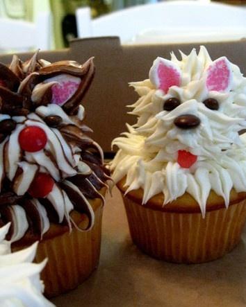 Yum... doggie cupcakes!