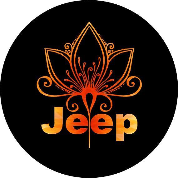 Orange Mandala Flower 2 Jeep Spare Tire Cover Jeep Wrangler