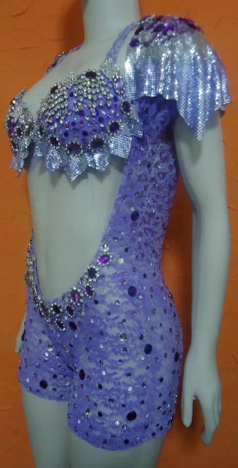 Lilac Laced Mesh Sparkling Passista Wear  0d6e4dafd8f