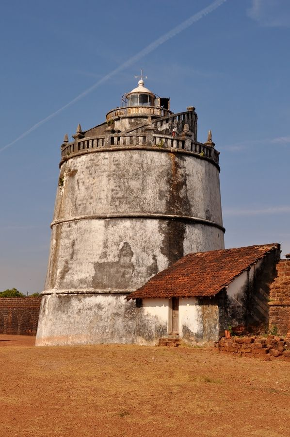 Fort Aguada lighthouseGoa  India (preserved seventeenth-centuryPortuguesefort)15.492249, 73.774097
