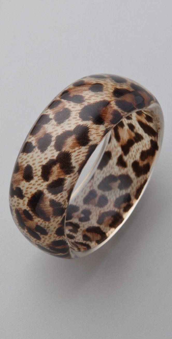 Kenneth Jay Lane Leopard Print Bangle | SHOPBOP