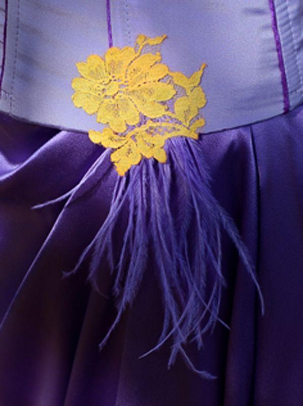 de mariée violette et jaune  Carole CELLIER, créatrice de robes de ...