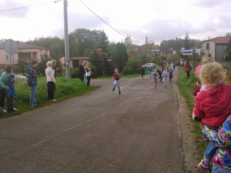 School Competition in Running on 100 m. Poland Poreba 2014.10.18