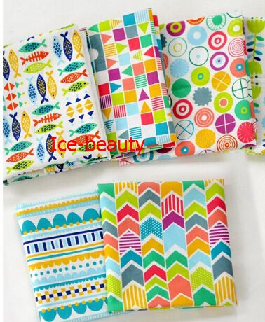 150*85cm Assorted Fish series Cotton sewing Fabric Diy Cloth for Patchwork Quilting Tilda