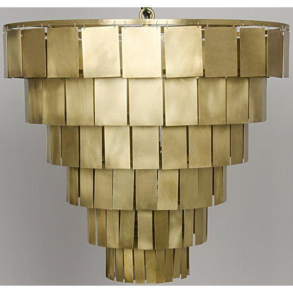 Shield 4 Light Unique Statement Tiered Chandelier Antique Brass Chandelier Brass Chandelier Antique Brass