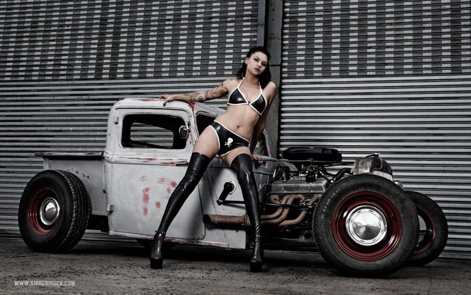 Rat Rod Girls | GlamourCAR 2 – Rat Rod and Natalie Boonzaaier