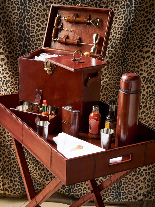 A portable vintage leather mini bar equipped with all your drinks cabinet essentials is a wonderfully unique present for someone special. Tick everyone off your Christmas list with our new gift collection.