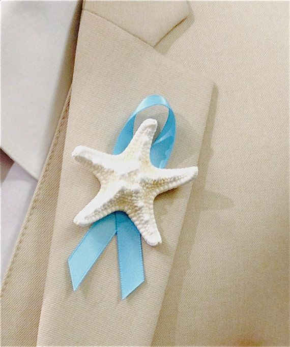 Beach Wedding Starfish Boutonniere with by SeashellCollection
