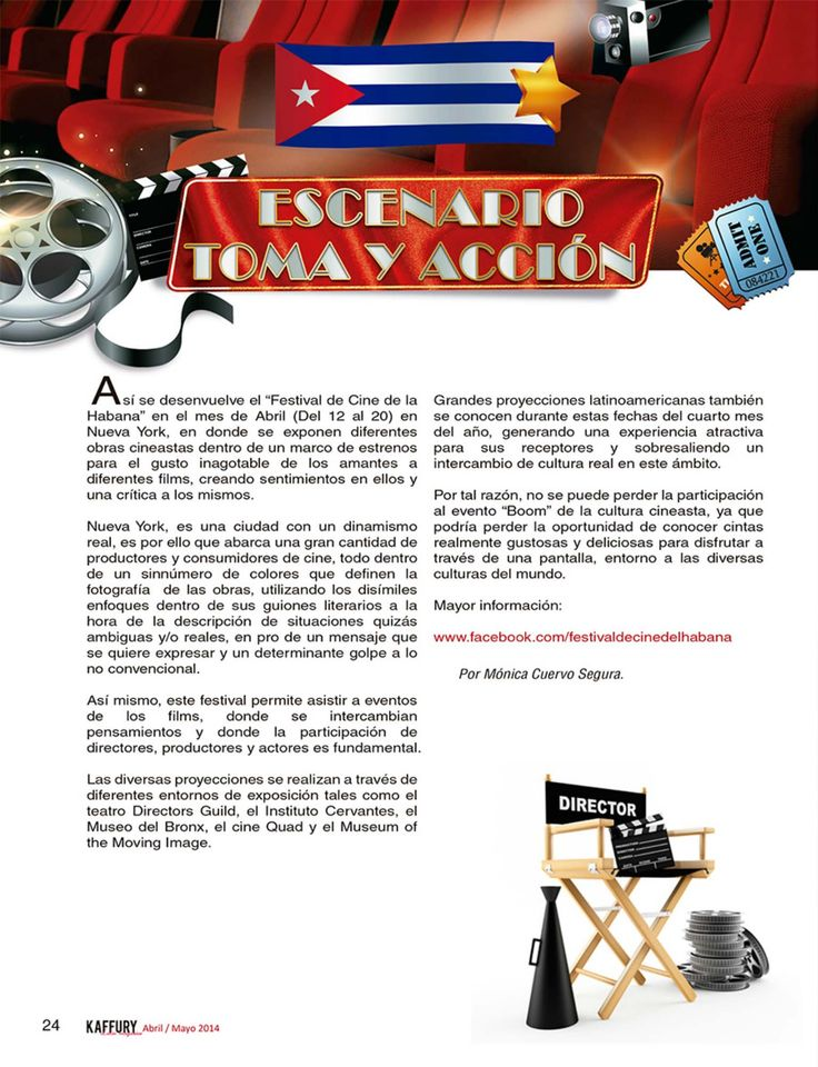Escenario, toma y acción  http://www.kaffurymagazine.com/escenario-toma-y-accion/