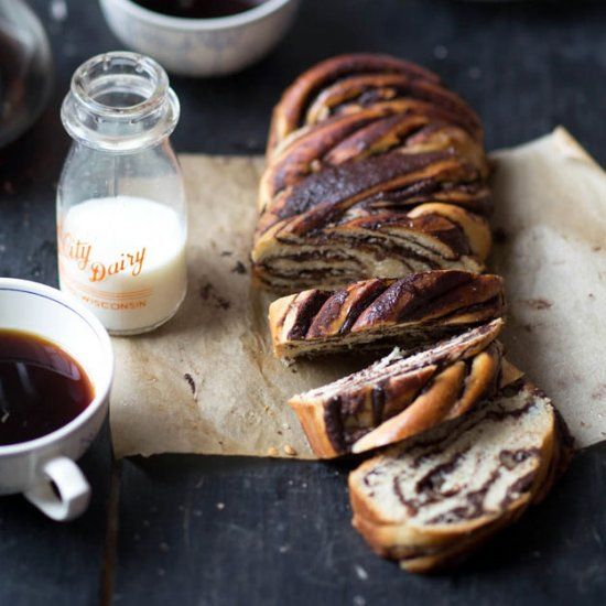 Ottolenghi's Chocolate Pecan Babka - Deliciously decadent, only this version has a little less sugar then the original.