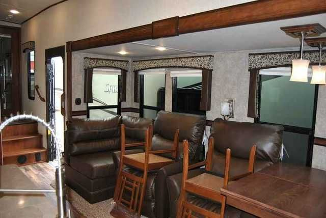 2015 New Forest River Sabre Fifth Wheels 33RKTS Fifth Wheel in Texas TX.Recreational Vehicle, rv, Ron Hoover RV & Marine serving Texas for over 28 years. We offer the best RV's to be sure you get the quality, service, and price you deserve. Travel trailers, fifth wheels, or toy haulers from Forest River, Palomino, Keystone, Heartland, Lifestyle, and Crossroads. Motor homes by Coachmen, Forest River, Pleasure-Way, & Winnebago. See over 700 RV's at the largest boat and RV dealer in Texas.