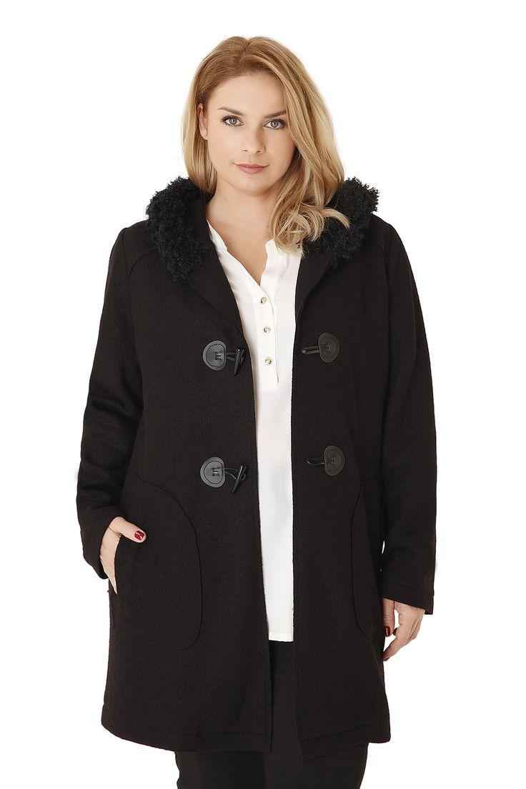 Παλτό τύπου μοντγκόμερι με κουκούλα - Ρούχα | Parabita