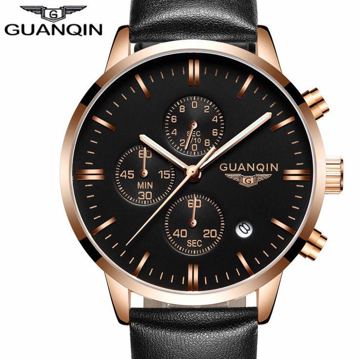 Wristwatch Chronograph Leather Quartz Watch //Price: $39.98 & FREE Shipping //     #hashtag4