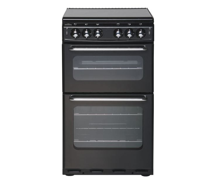 BRAND NEW NEW WORLD 500TSIDL Gas Cooker Black 50cm With Lid Double Cavity