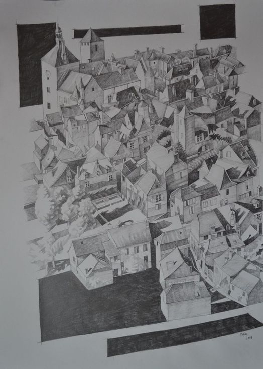 Buy GEOMETRIC LANDSCAPE FROM MARTEL- DORDOGNE, Pencil drawing by Chifan Cătălin Alexandru on Artfinder. Discover thousands of other original paintings, prints, sculptures and photography from independent artists.
