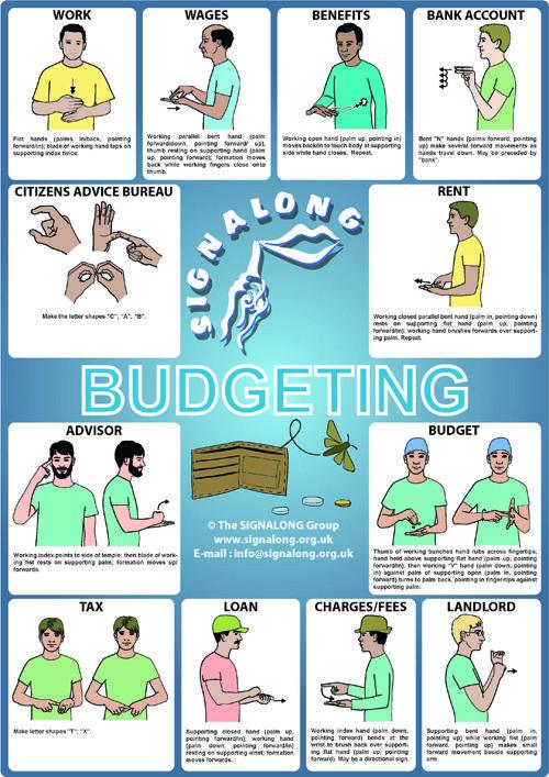 Budgeting Poster - BSL (British Sign Language)