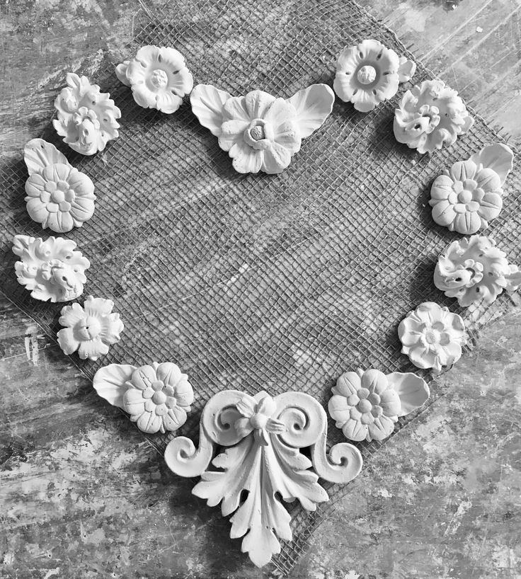A heart for Valentines Day, madeup of individual mouldings from various projects.