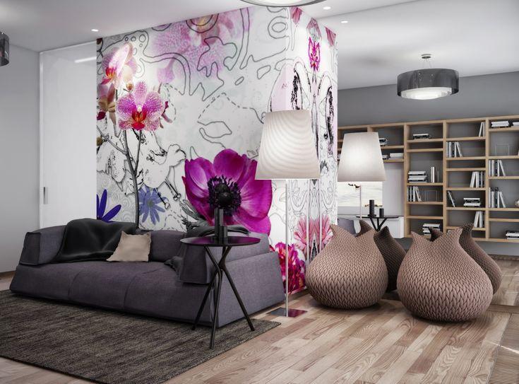 Para el diseño de interior de la juventud hay muchos tipos y modelos de papel tapiz