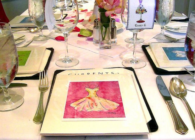Bridesmaids Luncheon gave small watercolor prints as favors. Available on Etsy