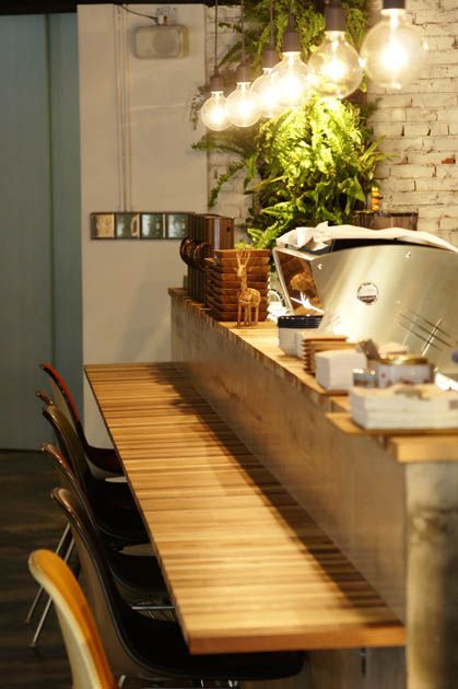 a day cafe -- what if you used an upright piano as the top counter, replacing the keyboard with a dining surface?