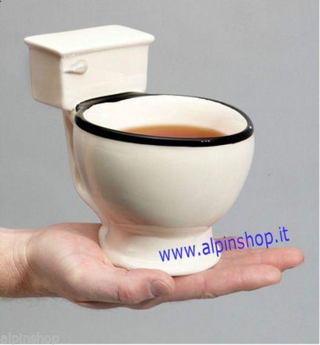 Tazza WC in ceramica - toilette gelato caffè the cucina disign scherzo Mug water