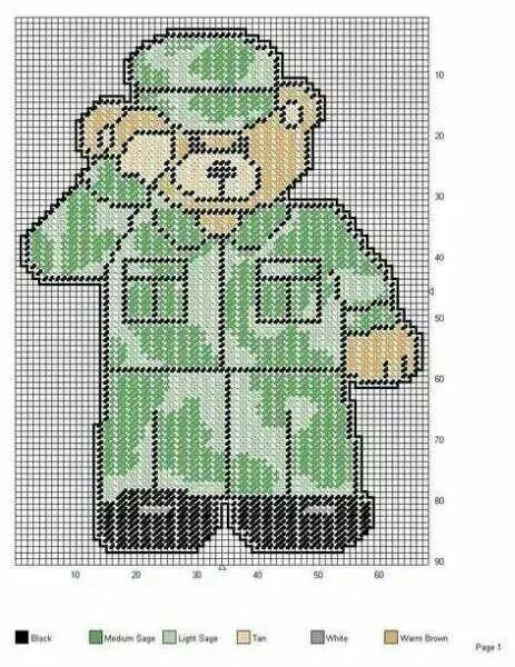 78 Best Plastic Canvas Military Patterns Images On