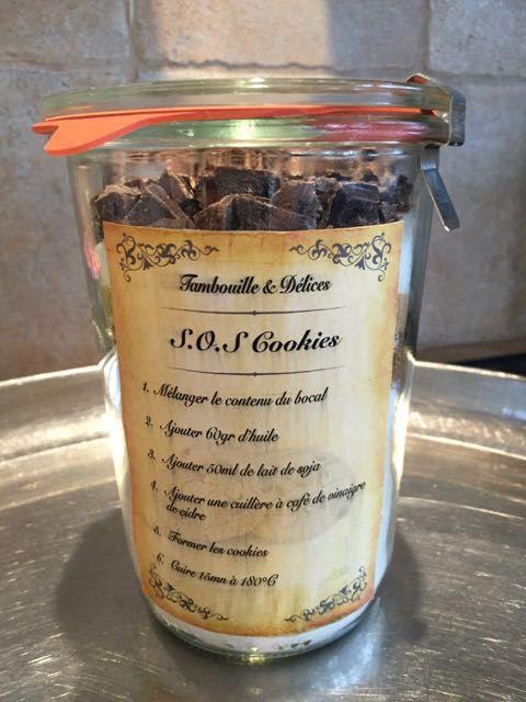 Des cookies à offrir en bocaux ou pour dépanner les jours de flemme. Etiquette à imprimer Bocaux Weck de chez MCM Emballages
