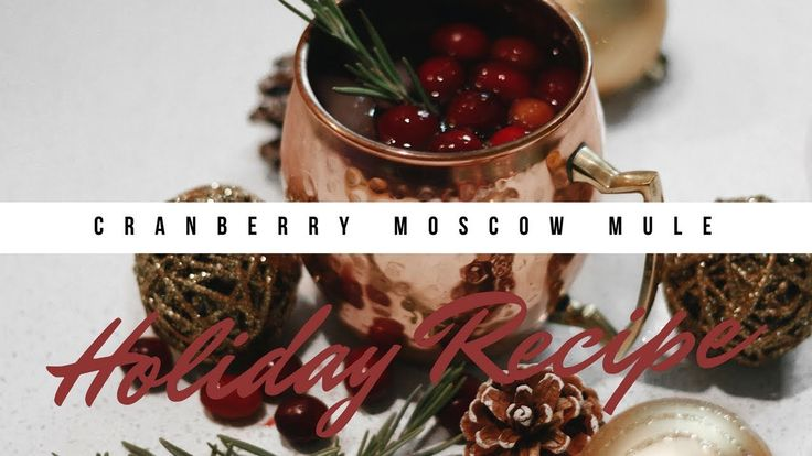 HOLIDAY RECIPE   CRANBERRY MOSCOW MULE