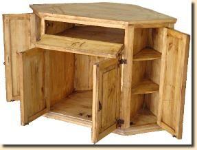 Rustic Pine Corner Tv Stand