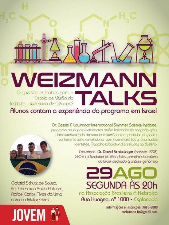 Associação de Amigos do Weizmann realiza evento com alunos que participaram da…