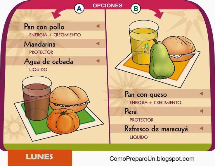 Mejores 24 im genes de lonchera nutritiva en pinterest for Como preparar comida para ninos