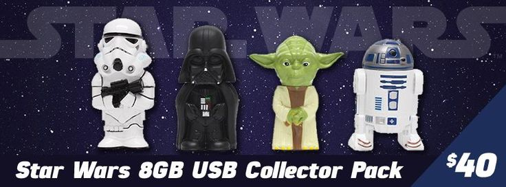 Star Wars 8GB USB Set Collector Pack
