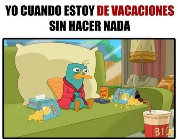 Yo cuando estoy de vacaciones. #humor #risa #graciosas #chistosas #divertidas