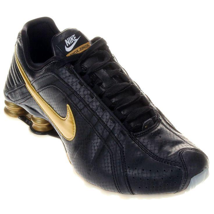 8a01cbed736 ... Tênis Nike Shox Masculino Preto e Dourado ...