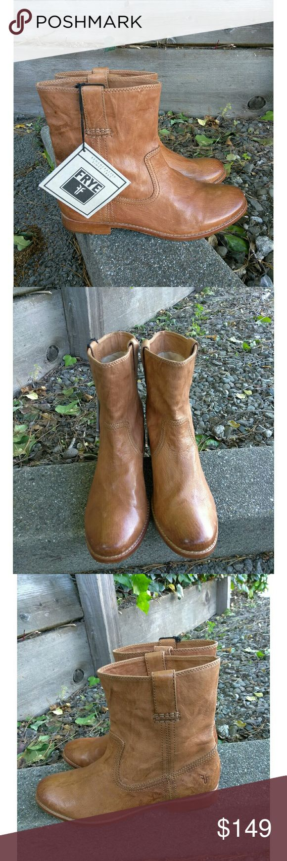 NEW!!Frye Womens Anna Shortie Tan Leather Ankle Frye 1282 Womens Anna Shortie Tan Leather Ankle Riding Boots Size 11 Medium. New Without Box. Thank you for looking ?? Frye Shoes Heeled Boots