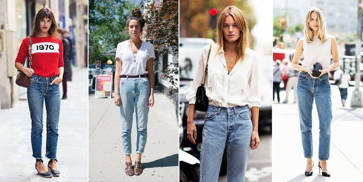 """Na pewno pamiętacie je z lat młodości lub… z dzieciństwa. Bo nawet jeśli same ich nie nosiłyście, z pewnością nosiły je wasze mamy! """"Mom jeans"""" to kultowe spodnie lat 80/90. Teraz z powrotem wracają ..."""