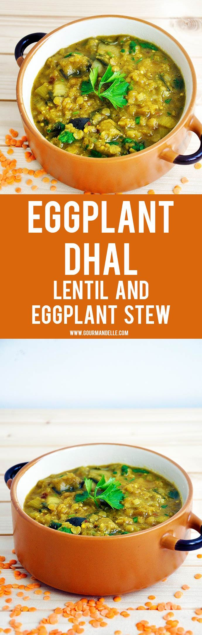 Even if you're not a big fan of Indian food, you will absolutely love this eggplant dhal recipe! It's easy to make, budget-friendly and perfect for a family dinner! #indianfood #eggplant #lentils