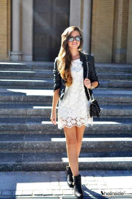 Lace Back Bow Dress