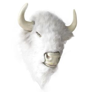Paul Frances Magical White Buffalo Head