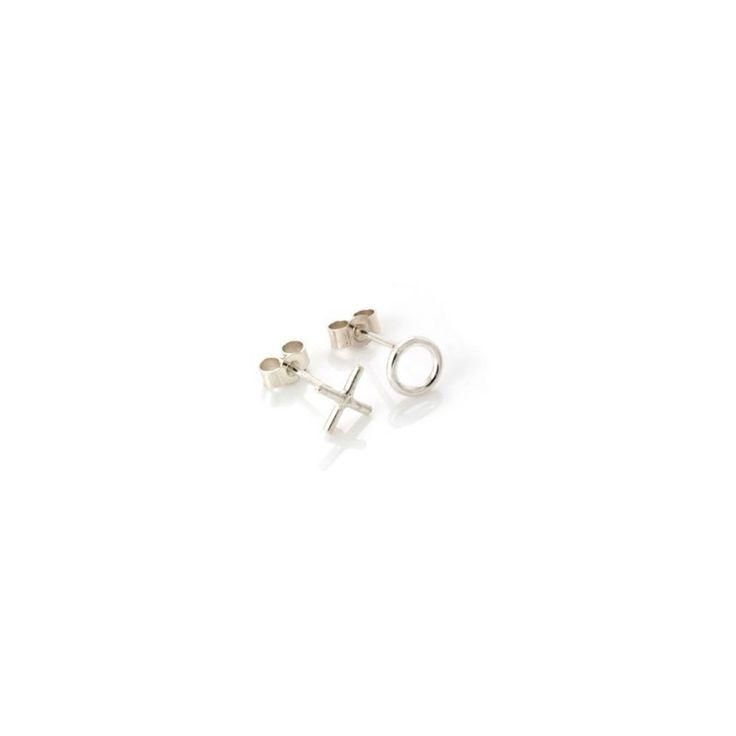 Written X O Stud Earrings