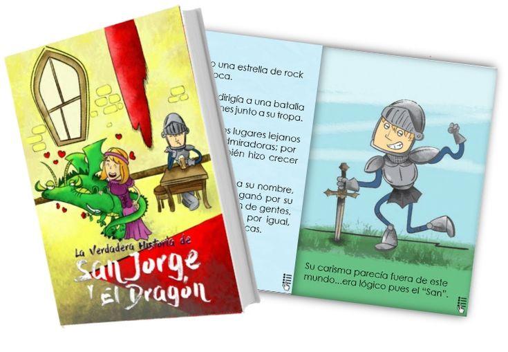 La verdadera historia de #SanJorge y el Dragón. Esta historia es un poco… podría decirse… ¿diferente?.  El cuento sería, más o menos, así: El príncipe cree que rescata a la princesa, ella es un poco inusual y el dragón…bueno él…él…es él. Si crees que los cuentos de hadas y leyendas no son como los pintan y prefieres algo más pintoresco, ¡esta es tu historia! #SantJordi