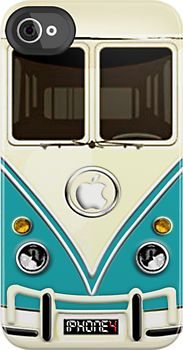 Old fashion VW Bus iPhone Case