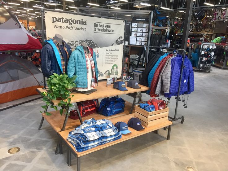 Patagonia Display (Front of Store)